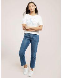 Calvin Klein | White Teca Icon Crop Top | Lyst