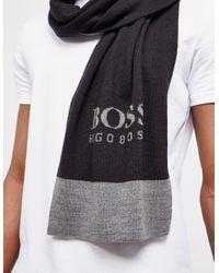 BOSS Logo Scarf Black for men