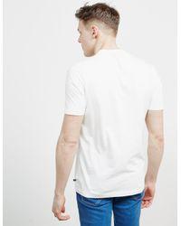Jacob Cohen Mens Stitch Logo Short Sleeve T-shirt White for men