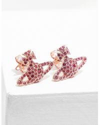 Vivienne Westwood - Womens Grace Stud Earrings Pink - Lyst