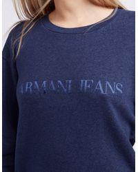 Armani Jeans - Blue Crew Neck Sweater - Lyst
