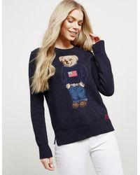 Bear Knitted Online Navy Exclusive Blue Womens Jumper Teddy b6fY7yg