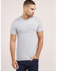 Barbour - Gray International Line Logo Short Sleeve T-shirt for Men - Lyst