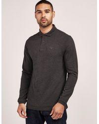 Barbour Gray Long Sleeve Polo Shirt Grey for men