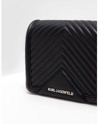 Karl Lagerfeld Quilted Shoulder Bag Black