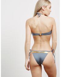 Calvin Klein Gray String Bikini Bottoms Grey