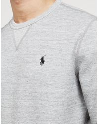 Polo Ralph Lauren Gray Mens Basic Crew Sweatshirt Grey Marl/grey Marl for men