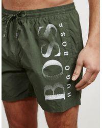 BOSS Natural Mens Octopus Swim Shorts Khaki/khaki for men