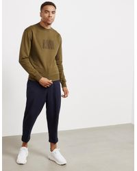 AMI Natural Mens Chenille Logo Sweatshirt Khaki for men