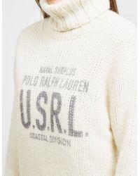 Polo Ralph Lauren - Natural Print Wool-blend Turtleneck - Lyst