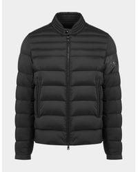 Moncler Arree Text Biker Jacket Black for men