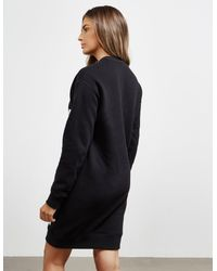DSquared² Logo Sweatshirt Dress Black