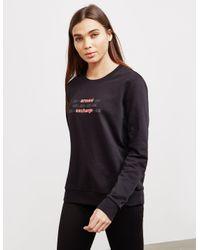 Armani Exchange Logo Sweatshirt Black