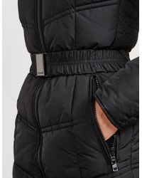 Froccella Womens Belted Padded Jacket Black, Black