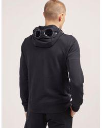 C P Company - Mens Goggle Full Zip Hoody Black for Men - Lyst