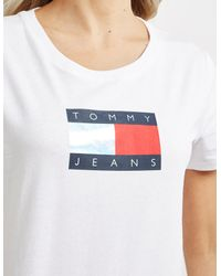Tommy Hilfiger Metallic Flag Short Sleeve T-shirt White