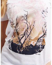 BOSS - White Orange Short Sleeve Print T-shirt - Lyst