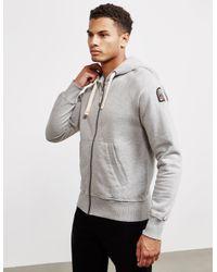 Parajumpers Gray Sampson Full Zip Hoodie Grey for men