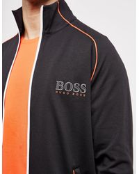 BOSS Piped Track Top Black for men