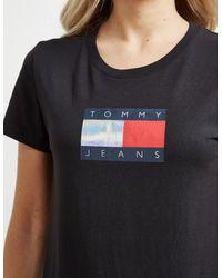 Tommy Hilfiger Metallic Flag Short Sleeve T-shirt Black
