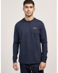 Barbour - Blue International Small Logo Long Sleeve T-shirt for Men - Lyst