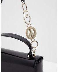Love Moschino Peace Heart Chain Bag Black