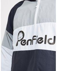 Penfield - Gray Mens Block Overhead Jacket Black/white/grey for Men - Lyst