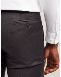 Armani - Gray Classic Trousers for Men - Lyst