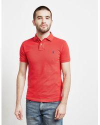 Polo Ralph Lauren Red Mesh Short Sleeve Polo Shirt for men