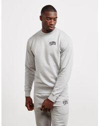 BBCICECREAM Gray Small Arch Logo Sweat, Crew Neck Grey Sweatshirt for men