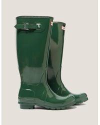 Hunter - Womens Tall Gloss Boot - Online Exclusive Green - Lyst