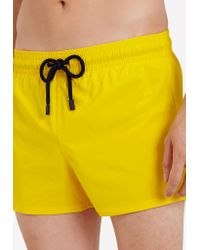 Vilebrequin Yellow Man Solid Drawstring Swim Shorts for men