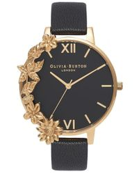 Olivia Burton Black Case Cuff Watch