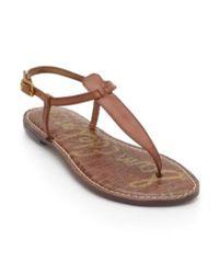 Sam Edelman Brown Gigi Flat Sandal