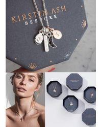 KIRSTIN ASH Metallic Bespoke Feather & Heart Double Charm