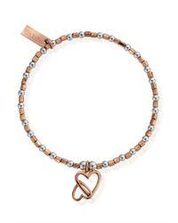 ChloBo - Metallic Inner Spirit Interlocking Love Heart Bracelet - Lyst