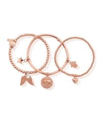 ChloBo - Pink Stack Of 3 Harmony Bracelets - Lyst