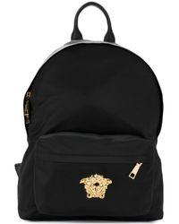 Lyst - Versace - Medusa Palazzo Backpack in Black 206c79ead4