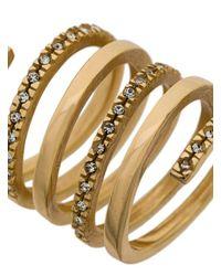 FEDERICA TOSI - Metallic Twirl Spiral Ring - Lyst