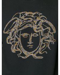Versace - Black Studded Medusa Sweatshirt for Men - Lyst
