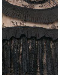 Self-Portrait Black Ruffle Trim Flared Jumpsuit