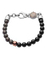 DIESEL Bead Heren Armband Dx1076040 in het Black voor heren