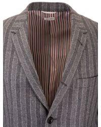 Thom Browne Gray Pinstripe Jacket for men