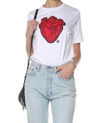 DSquared² - White Heart-print T-shirt - Lyst