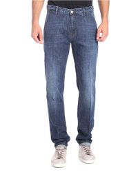 Pt05 Dark Blue Grunge Jeans for men