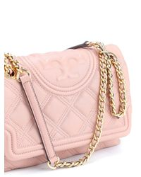 Tory Burch Pink Convertible Fleming Soft Leather Bag