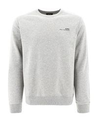 A.P.C. Gray Item Sweatshirt for men