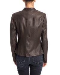 Desa Nineteenseventytwo Brown Leather Jacket