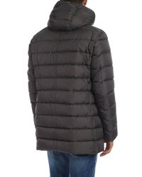 Herno Down Jacket In Dark Gray With Hood for men
