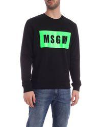 MSGM Black Box Logo Sweatshirt for men